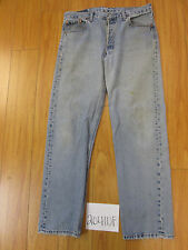 used levi 501 usa feathered tag 36x32 meas 33x31 grunge jean 20410F