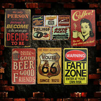 Retro Vintage Metal Tin Sign Poster Plaque Bar Pub Club Wall Home Decor