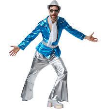 Kostüm Herren Disco 70er 80er Hemd Schlaghose Glitzer Party Fasnacht Karneval