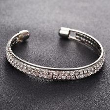 Crystal Rhinestone Bracelet Bangle Wedding Bridal Wristband Lady Gift
