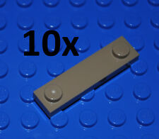 LEGO PARTS - 10X DARK TAN FLAT TILES 1X4 WITH TWO KNOBS/STUDS PLATES/BEIGE 92593