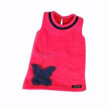 NEW Kids Girls Pink Pinafore Fleece Dress Butterfly Motif Age Range 1-6 Years