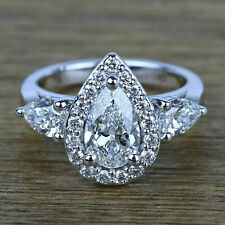 Certified 2.50ct White Round Diamond Engagement Ring in Solid 14k White Gold