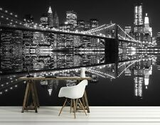 Giant Photo Wallpaper NEW YORK LIGHTS Wall Mural 320x230cm Cityscape bedroom art