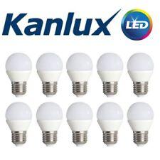 Pack of 10 Kanlux E27 LED Golf Ball Globe Light Bulb Lamp 6.5W 3000K Warm White