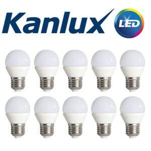 Pack of 10 Kanlux E14 LED Golf Ball Globe Light Bulb Lamp 6.5W 3000K Warm White