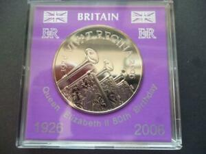 2006 £5 COIN CASED  QUEENS 80TH  BIRTHDAY BRILLIANT UNCIRCULATED FIVE POUNDS