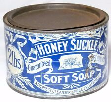RARE ANTIQUE SCOTTISH CO-OPERATIVE WHOLESALE SOCIETY CO-OP SOFT SOAP TIN