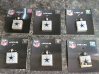 """ DALLAS COWBOYS NFL "" ( LOT OF 6 ) WINCRAFT  LIFETILES  PENDENT CHARM  TILE NEW"