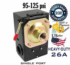 Pressure Switch for Air Compressor 95-125psi SINGLE PORT 26A /unloader LEFOO H/D