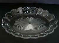 """Antique Heisey Glass Puritan Colonial #341 Ice Cream Tray marked 14"""""""