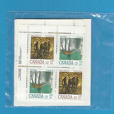 Canada Stamps 1979 17 Cent Scott* 817-818 Canadian Authors Seal Cello 4 Blocs