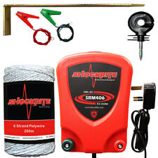 Electric Fence Energiser Mains SRM406 0.6 Joule Kit Poly Wire Insulators