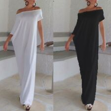 Women Summer Off Shoulder Boho Sexy Beach Party Club Maxi Dress Plus Size Kaftan