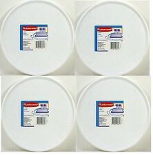 lot of 4 RUBBERMAID TURNTABLE LAZY SUSAN Ball bearings White plastic 2936-RD-WHT