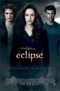 TWILIGHT MOVIE POSTER ~ ECLIPSE TRIO 11x17 Saga Robert Pattinson Taylor Lautner
