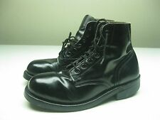 vintage BLACK STEEL TOE WORK SAFETY MOTORCYCLE BIKER ANKLE BOOTS SIZE 5M