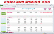 Wedding Budget Spreadsheet - Wedding Budget in Excel - Wedding Budget Planner