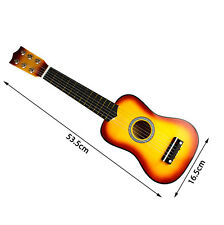 """21"""" Wooden Beginners Practice Acoustic Guitar w/ 6 String For Children Kids New"""