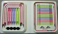 Pink Denise Interchangeable Knitting Kit Pastel Colored Needles +Free Gift