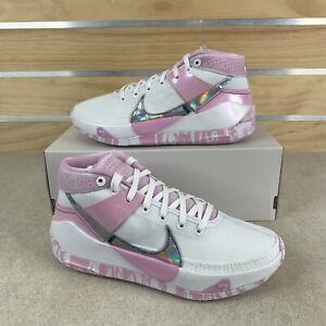 Nike KD13 Kay Yow (Unreleased) White Arctic Pink DJ3597-100 Mens Size 10