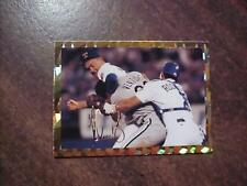 NOLAN RYAN WHIPS ROBIN VENTURA AFTER HE CHARGES THE MOUND , CARD 12 very rare