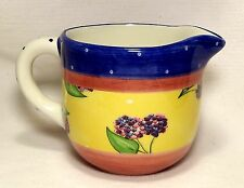 Bois d'Arc by Essex Collection Tutti Fruitti Blackberry Creamer/Pitcher Portugal