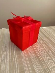 Gift Box Red Satin Gift Box with Bow