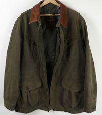 Marlboro Classics  Mens Green Jacket  Leather Collars Size Large XL : JA67