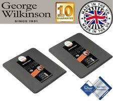 2 x George Wilkinson Progress 34cm Non Stick Cookie Scone Baking Sheet Tray Tin