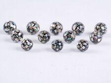 10-16mm Handmade Abalone shell mosaic ball round loose beads