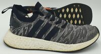 Adidas NMD R2 PK Primeknit Trainers BY9409 Black/White/Red UK8.5/US9/EU42.5
