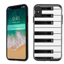 For Apple iPhone Xs Max 2-Layer Case (Brushed BLK) - Piano Design