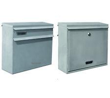 GROß Zaunbriefkasten Einbau Briefkasten Postkasten DIN C4 Farbe Silber