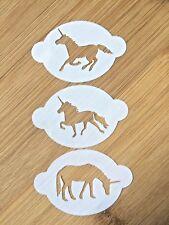Face paint stencil unicorns fantasy magic washable/reuse glitter tattoo