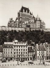 1925 Vintage CANADA ~ Chateau FRONTENAC Hotel Architecture Cars Quebec Photo Art