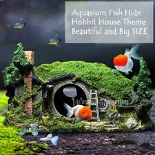 Hobbit Aquarium Fish Tank Decor Hideaway Ornament Resin Decorations Large 11.4''