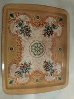 Vintage Daher Decorated Ware Square Tin Serving Tray Made In England