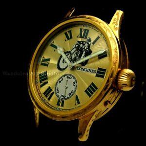 Vintage Mens Wristwatch Gold Mechanical Men Wrist Watch Swiss Longines Movement