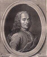 Portrait XVIIIe Voltaire François Marie Arouet Philosophe des Lumières Ecrivain