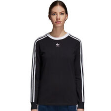 adidas Damen 3-stripes Longsleeve Black 38