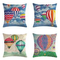 Colorful Balloons Sofa Pillow Case Cotton Linen Throw Cushion Cover Home Decor