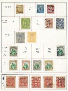 Guatemala stamps 1871 Collection of 19 CLASSIC stamps HIGH VALUE!