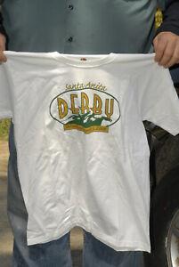 Santa Anita Derby 2008 T shirt MINT new no tags Large Hanes tagless horse racing