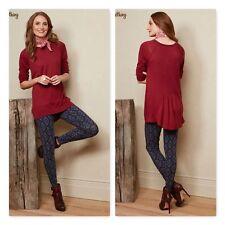 NWT MATILDA JANE SZ M ELLEN Sweater Maroon Pullover Knit Women's Friends Forever