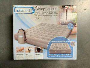 Aerobed Sleep Basics 2 Zone - King Air Bed w 120 Volt Air Pump | New | DMG Box 4