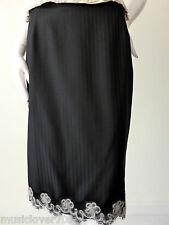 JAYSON BRUNSDON  rrp $459.00 Black Wool Pencil Skirt Size 10 - 12  US 6 - 8