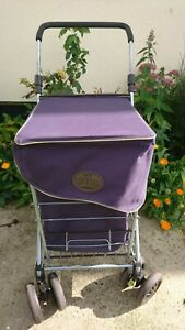 The Sholley Shopping Trolley In Blue Collapsible Made In The Uk With Foam Handle
