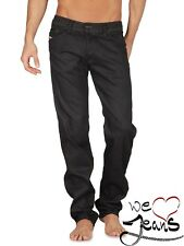 DIESEL DARRON 0064U 64U W27 L30 27x30 NEW SLIM TAPERED MENS JEANS BLACK STRETCH