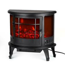 Electric Fireplace Heater Portable TV Stand Small Space Home Bedroom 1.5kw M3U5